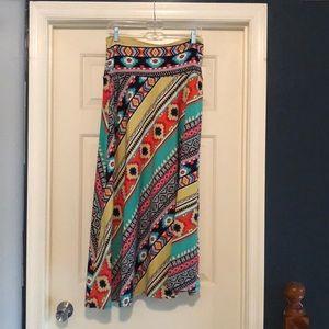 Sunny Leigh colorful Maxi Skirt